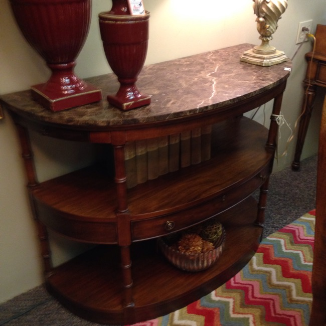 Ethan Allen Marble Coffee Table: Tulsa Furniture Consignment